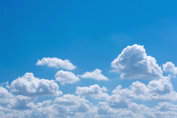 Beautiful white cloud with blue sky