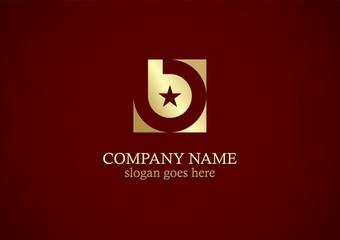 square letter b star gold company logo