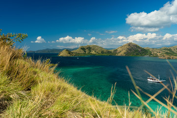 Coral bay in Komodo National Park, Flores, Indonesia.