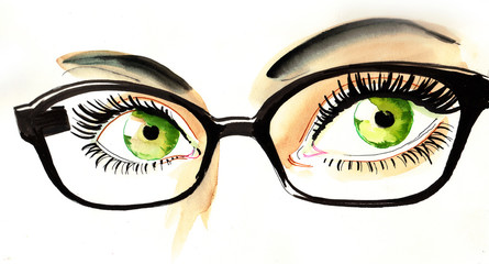Eyes and glasses