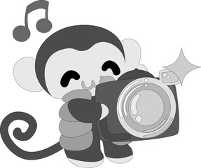 The pretty little monkey which does the figure of the photographer