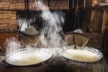 Boiling salt mountainous of Nan province, Thailand