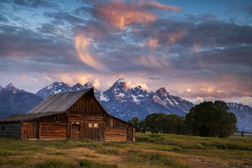 One of the Mormon Row barns in Grand Teton National Park