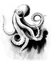 Sketch of an octopus