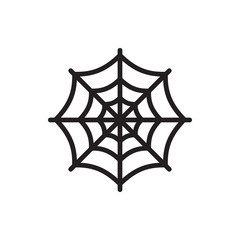 spider web icon illustration
