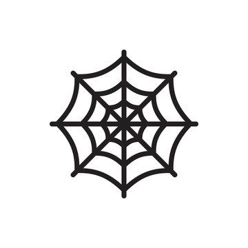 spider web icon illustration