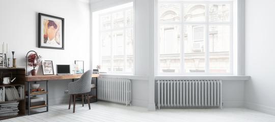 Möbliertes Wohnzimmer (Teilentwurf panoramisch)
