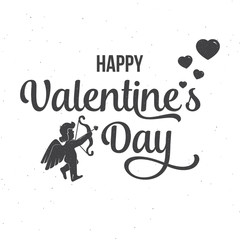 Happy Valentine's Day text and lettering. Vector Illustration.
