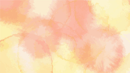 red yellow leaves autumn tone color vector background look like watercolor drop style