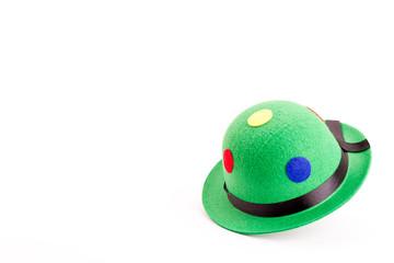grüne Melone für Karneval auf weissem Hintergrund