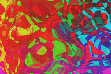 Abstract design blended with textile. Digital artwork creative graphic design.