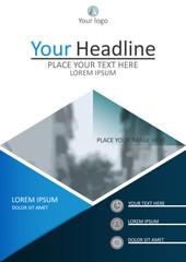 Annual report, A4 book cover design. Vector Illustration.