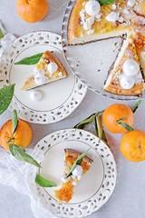 Orange cheesecake on poppy seed bottom