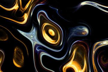 Flow curved lines. Fractal art background for creative design. Decoration for wallpaper desktop, poster, cover booklet, card. Digital illustration art work.