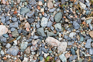 pebbles with garbage