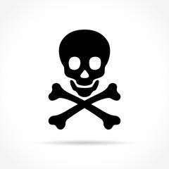 skulls icon on white background