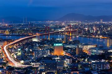 Kitakyushu skyline at night