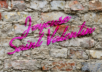 Art urbain, Joyeuse Saint Valentin