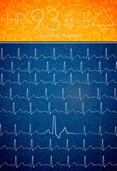 ECG background with an blank space