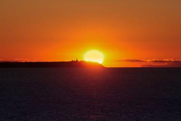 Lohme, Blick, Kap Arkona, Rügen, Sonnenuntergang, Sunset, Sundown