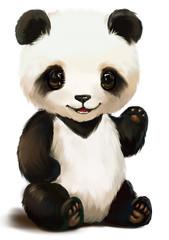 Panda painting