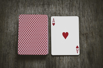 ace of hearts play cards, and a deck of cards