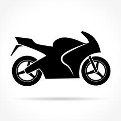 motorbike icon on white background