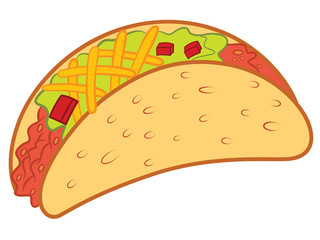 Crispy Taco Vector Illustration