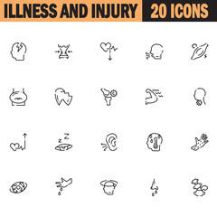 Disease icon set