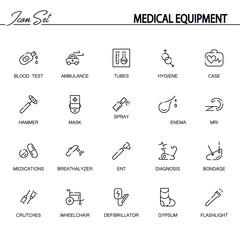 Medical equipment icon set