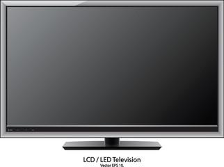 LCD / LED TV Vector Illustration, EPS 10.