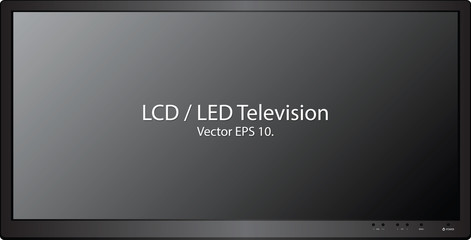 LCD / LED TV Vector Illustration, EPS 10.