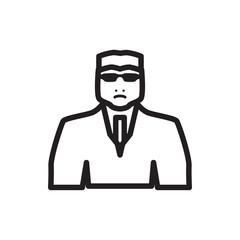 security guy icon illustration