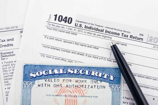 Filling tax return form