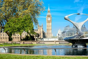 London - Big Ben in Spring