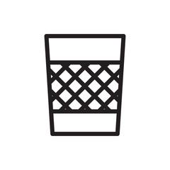 trash bin icon illustration