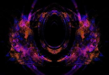 abstract light violet elipse on black background.