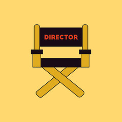 cinema producer seat Vector illustration in flat style Movie director chair