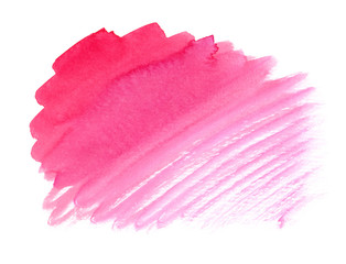 Bright pink watercolor paint gradient on clean white background
