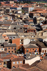 View of the red Toledo roofs, Spain