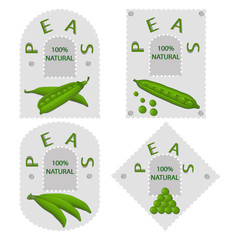Abstract vector illustration of logo for green peas