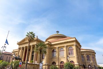 The Teatro Massimo  in Palermo, Italy