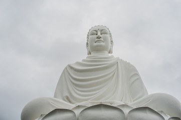 Big Buddha statue at the Long Son pagoda in Vietnam