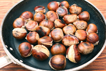 roasted chestnuts cooked