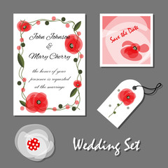 Set of wedding cards, Mother's Day, birthday, Valentine's Day