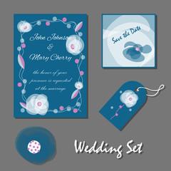 Set of wedding cards, Mother's Day, birthday, Valentine's Day