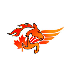 horse vector Canada Logo