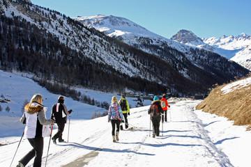 Randonnée hivernale au Fornet en Savoie, France