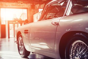 vintage transport retro car.