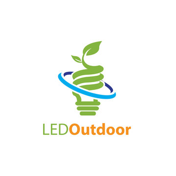 led outdoor, electric green energy logo